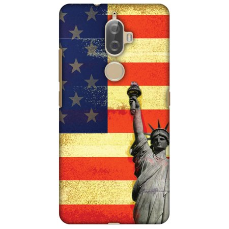 Lenovo K8 Plus Case, Premium Handcrafted Designer Hard Shell Snap On Case Printed Back Cover with Screen Cleaning Kit for Lenovo K8 Plus, Slim, Protective - Rustic Liberty US - Liberty Plus