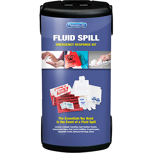 Physicians Care Emergency Fluid Spill First Aid Kit