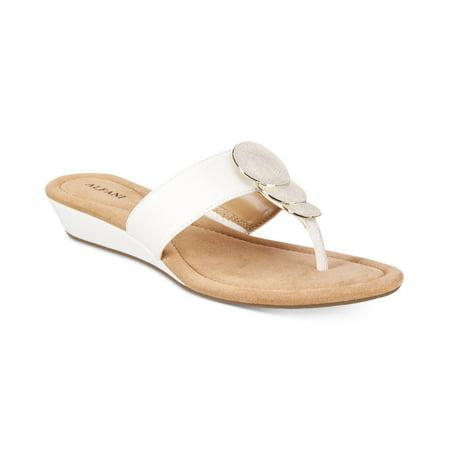 Alfani Womens Fleurr Open Toe Casual Slide Sandals Black Size 60