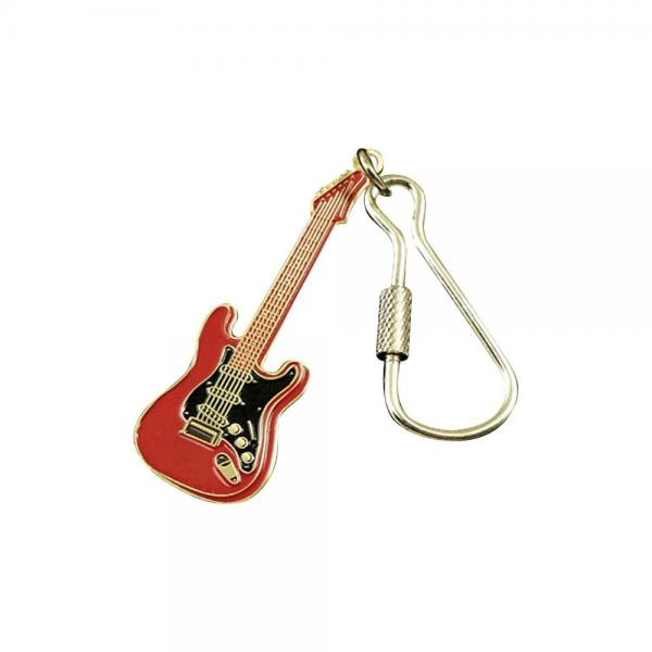 Image of AIM Electric Guitar Keychain Red