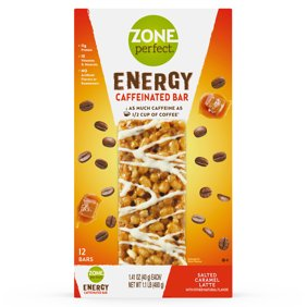 ZonePerfect Energy Bar Salted Caramel Latte 11g Protein 12 Ct