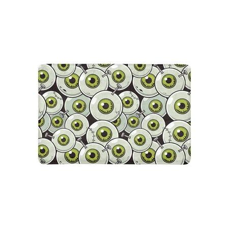 MKHERT Halloween Theme Eyeball Zombie Doormat Rug Home Decor Floor Mat Bath Mat 23.6x15.7 - Zombie Themes