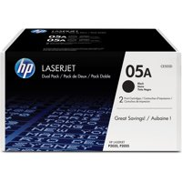 HP 05A (CE505D) Black Original LaserJet Toner, 2 Cartridges