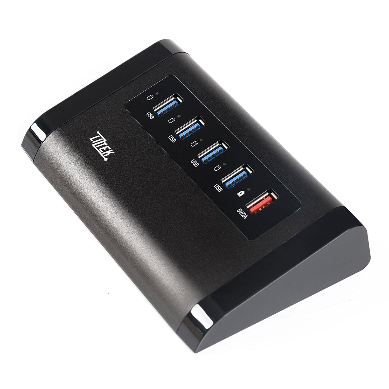 Liztek USB 3.0 4-Port Hub up to 5Gbps transfer rates