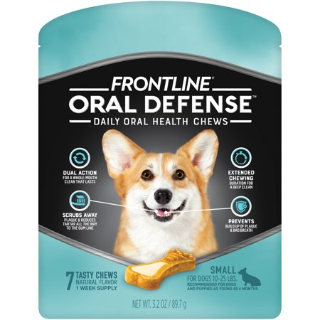 Frontline Oral Defense Dental Chews for Small Dogs, 7 (Best Turmeric For Dogs)