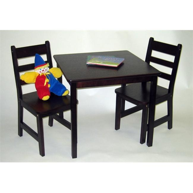 Square Table and 2 Chairs Set-Espresso