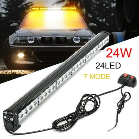 Car Emergency Flashing Light 24 LED White Amber 27
