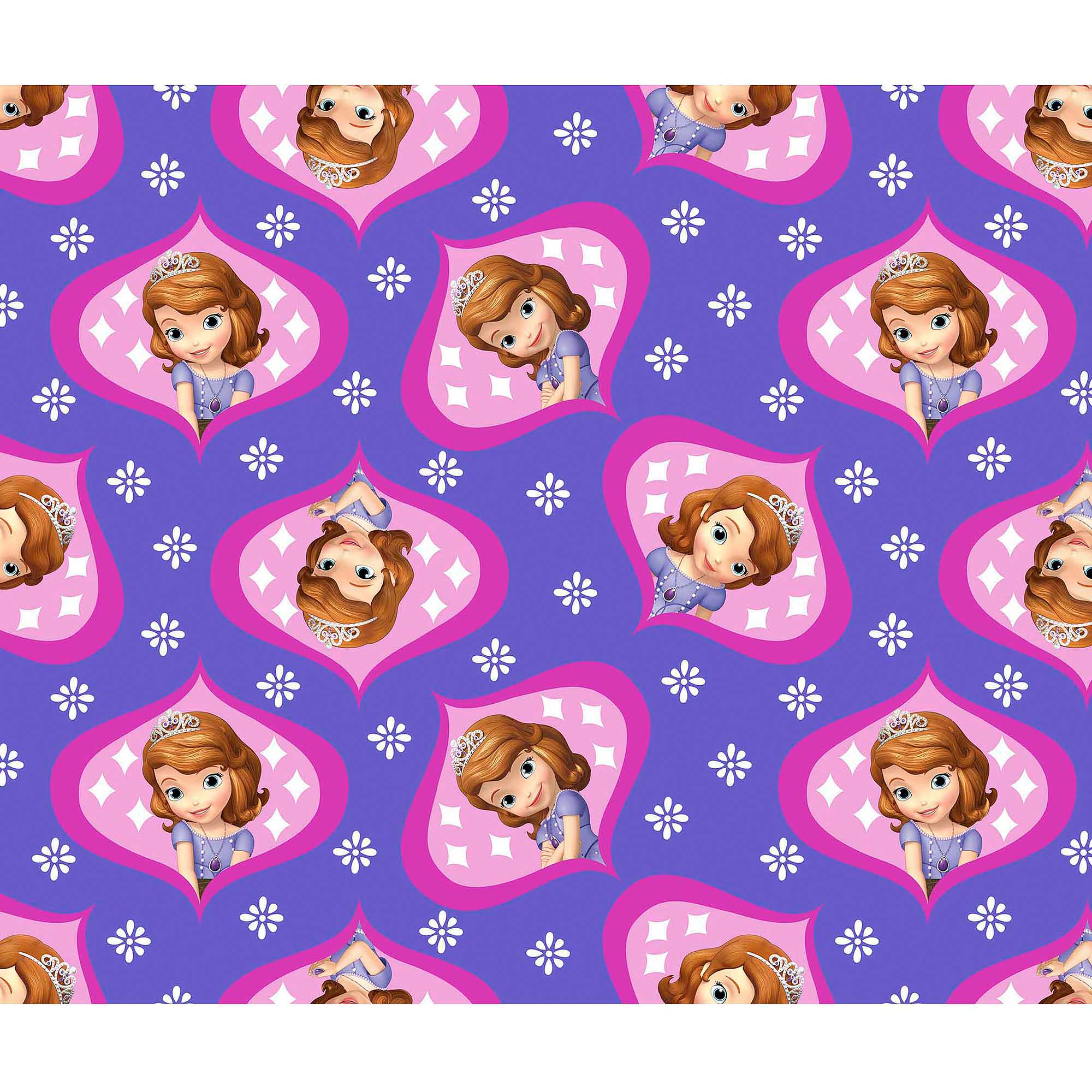 Disney Sofia The First Sofia Ogee Fleece Fabric by the Yard