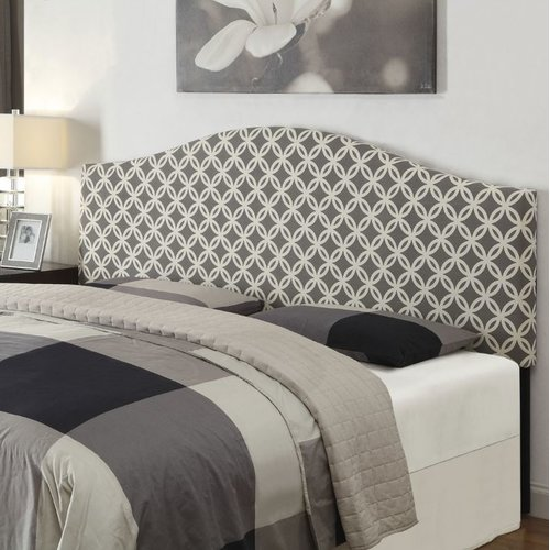 King Upholstered Headboard, Nopon Grey