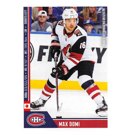 2018-19 Panini NHL Stickers #119 Max Domi Montreal Canadiens Hockey -
