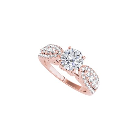 Cubic Zirconia Engagement Ring in 14K Rose Gold - image 2 of 2