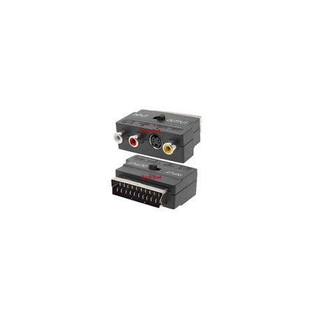 2-Way RGB Scart Composite RCA S-Video Audio Extractor - Scart Video