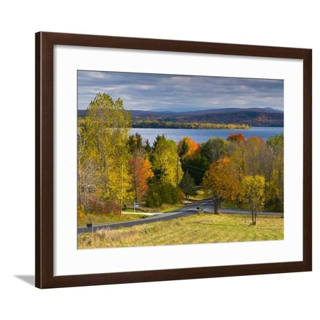 Grand Isle on Lake Champlain, Vermont, New England, United States of America, North America Framed Print Wall Art By Alan