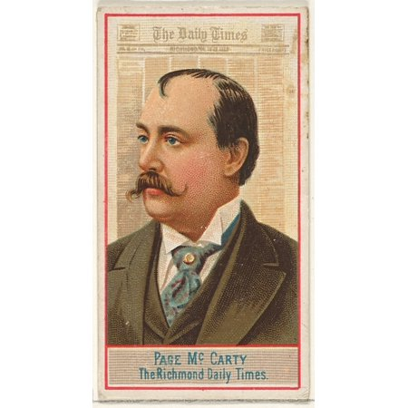 Page Mccarty The Richmond Daily Times From The American Editors Series  N1  For Allen   Ginter Cigarettes Brands Poster Print  18 X 24