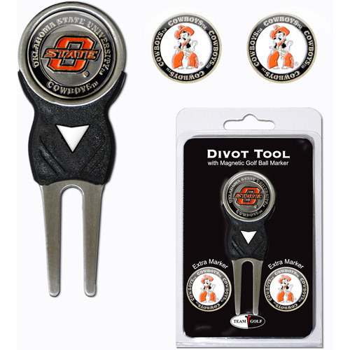 Team Golf NCAA Oklahoma State Divot Tool Pack With 3 Golf Ball Markers