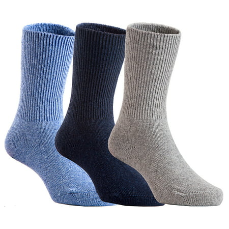 Lovely Annie 6 Pairs Pack Children Wool Socks Plain Color Size 1Y-3Y (Assorted Boy) (Six Pack Annie)