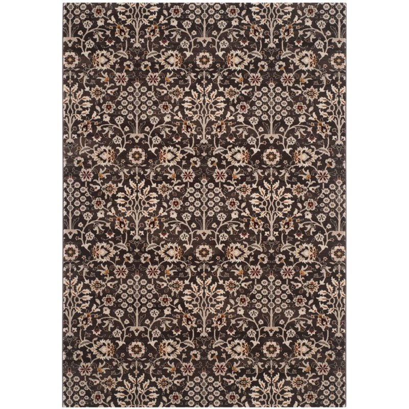 "Safavieh Serenity 3'3"" X 5'3"" Power Loomed Rug in Brown and Creme - image 2 de 4"