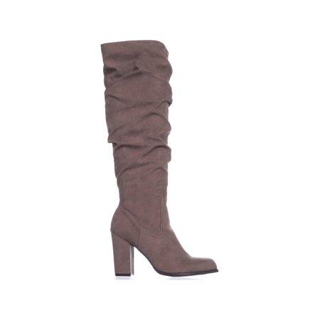 cfb9e42e99e madden girl Cinder Knee-High Slouch Boots, Dark Taupe | Walmart Canada