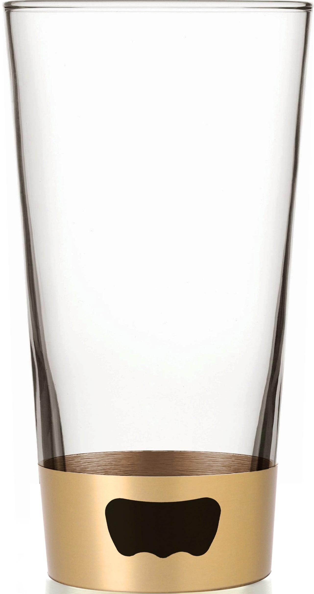 ASOBU Pint Glass Beer Mug with Beer Opener Base, Champagne 16 oz by AD-N-ART INC