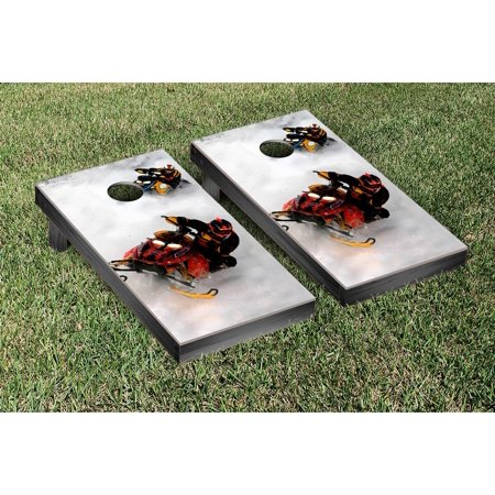 Victory Tailgate Snowmobiling Themed Cornhole Game Set