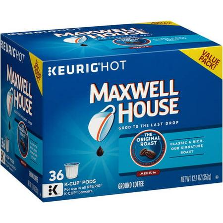 Maxwell House Medium Roast K-Cup Coffee Pods, 36 Count, 12.4 oz (352 g)