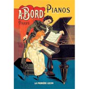 Buy Enlarge 0-587-00690-0C12X18 Bord Pianos - The First Lesson- Canvas Size C12X18