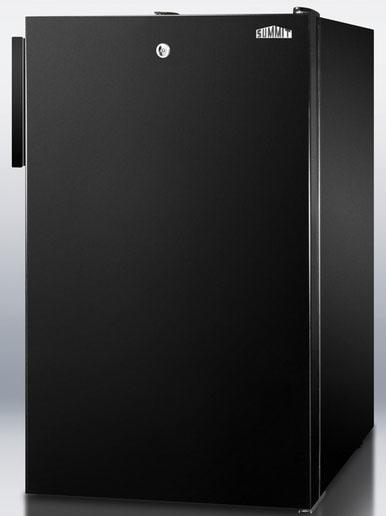 CM421BL 20 Medically Approved Compact Refrigerator with 4.1 cu. ft. Capacity Manual Defrost Door Lock and... by Summit