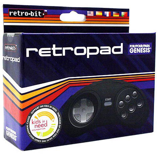 Retro-Bit - 6 Button RetroPad Wired Controller for Genesis