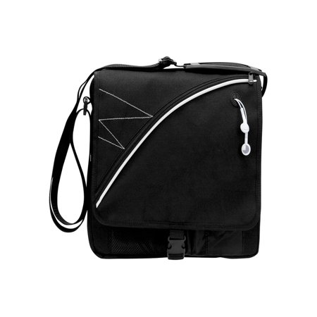 Recycled Vertical Messenger Bag - RECYCLED PET TABLET MESSENGER