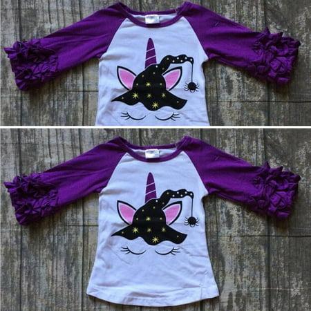 Terraria Halloween Clothes (Halloween Newborn Toddler Kids Baby Girl Unicorn Cotton Tops T-shirt Tee)