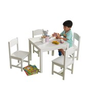 KidKraft Farmhouse Table and 4 Chairs Set, Multiple Colors