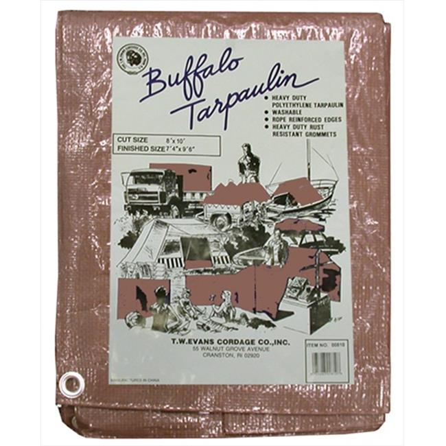 T. W.  Evans Cordage B1020 10 ft.  x 20 ft.  Buffalo Poly Tarp in Brown