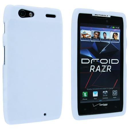 White Snap-On Hard Case Cover for Motorola Droid Razr