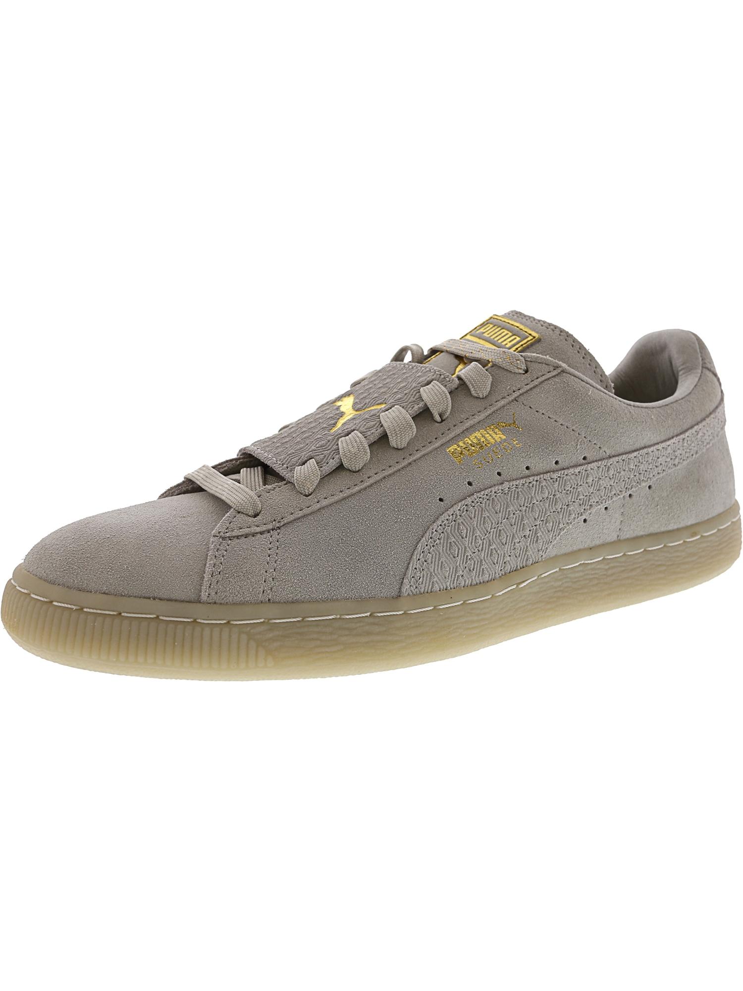 Puma Men's Suede Epic Remix Glacier Grey / White Ankle-High Fashion Sneaker - 9.5M