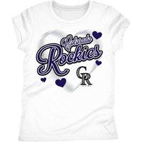 Colorado Rockies Girls Short Sleeve Graphic Tee