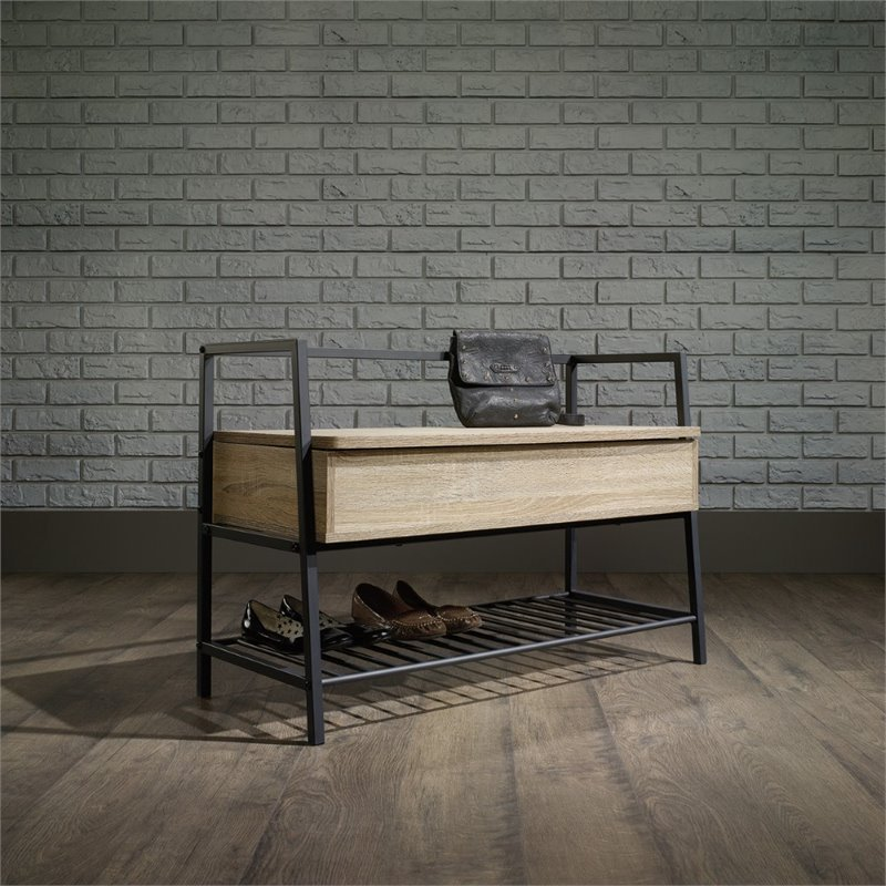 Sauder North Avenue Storage Bench in Charter Oak