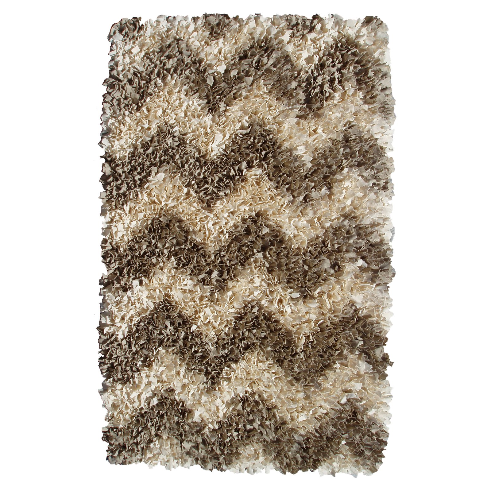 The Rug Market Shaggy Raggy Natural Chevron Area Rug, 2.7' x 4.7'
