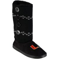 Miami Hurricanes Women's Button Up Boots