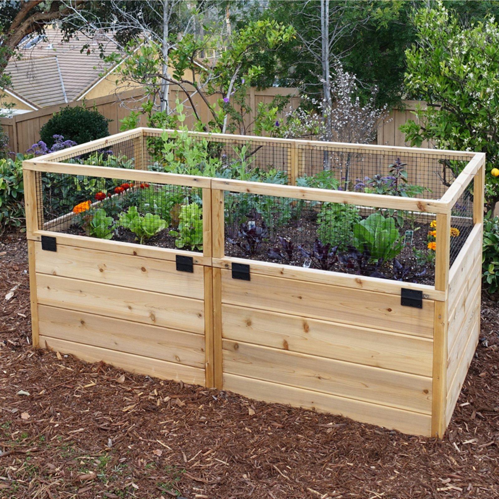 Outdoor Living Today Raised Cedar Garden Bed - 6 x 3 ft.