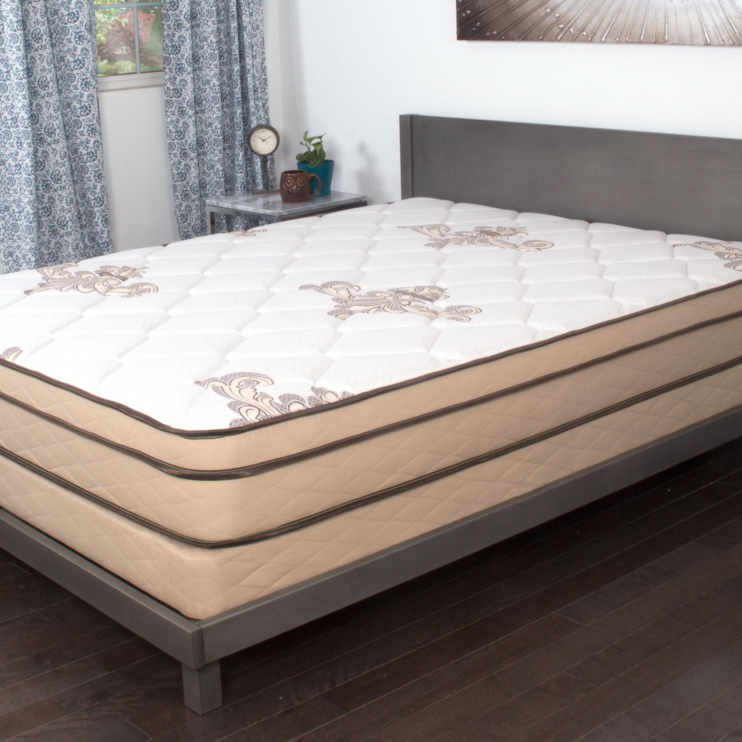 nuform quilted euro top 9inch twin xlsize foam mattress walmartcom