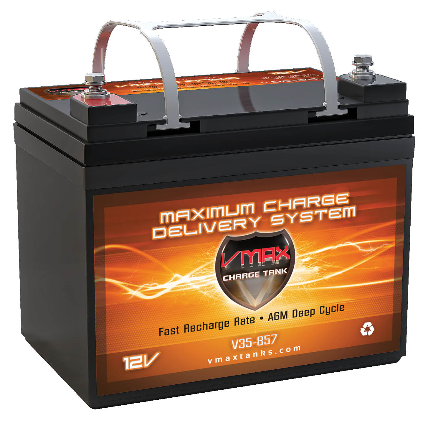 VMAX857 AGM Deep Cycle Group U1 Battery Replacement for Independence 35AH 12V 35Ah Wheelchair Battery