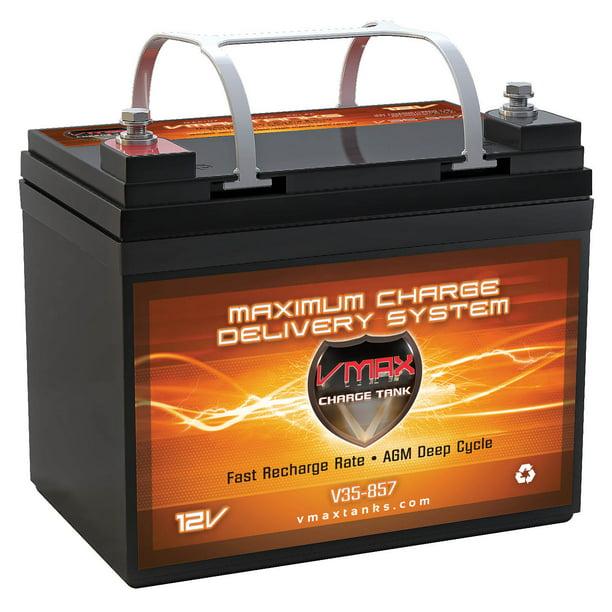 """VMAX V35-857 12V 35AH AGM Deep Cycle U1 Battery (7.7""""x 5""""x 6.1"""