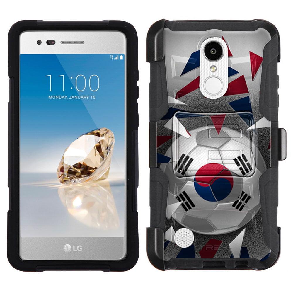 LG Aristo Armor Hybrid Case Soccer Ball Korea Flag by Trek Media Group