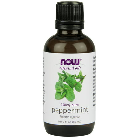 NOW Essential Oils, Peppermint Oil, Invigorating Aromatherapy Scent, Steam Distilled, 100% Pure, Vegan, -