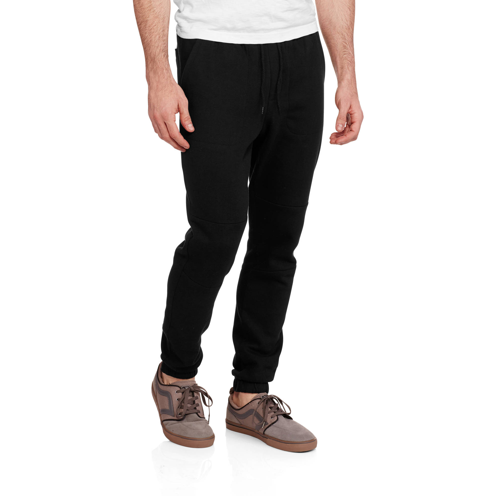 moto pants mens. faded glory men\u0027s moto fleece jogger pants mens