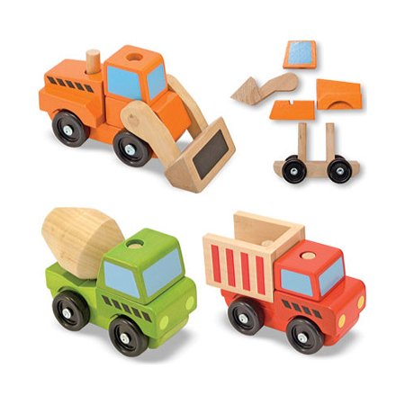 Children's Melissa & Doug Stacking Construction Vehicles (Melissa And Doug Stacking Train)