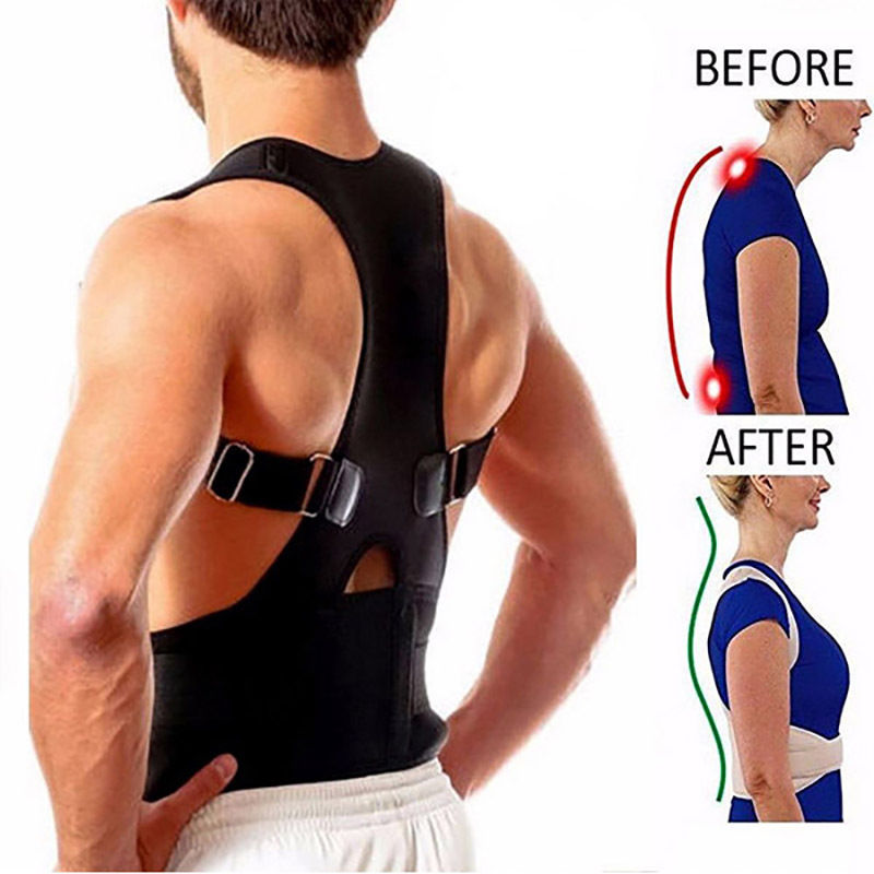 Aptoco Back Shoulder Support Posture Corrector Bad lumbar support Belt Brace