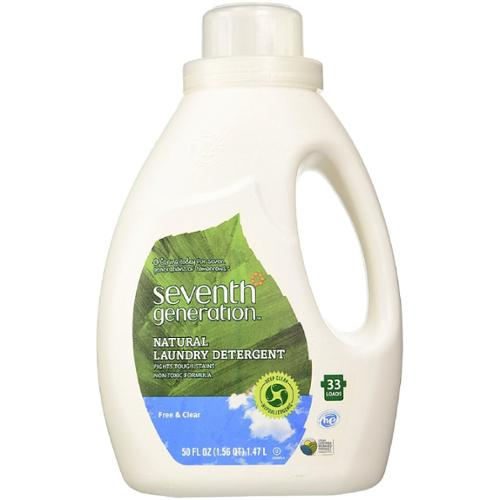 Seventh Generation Natural Laundry Detergent, Free & Clear 50 oz (Pack of 3)