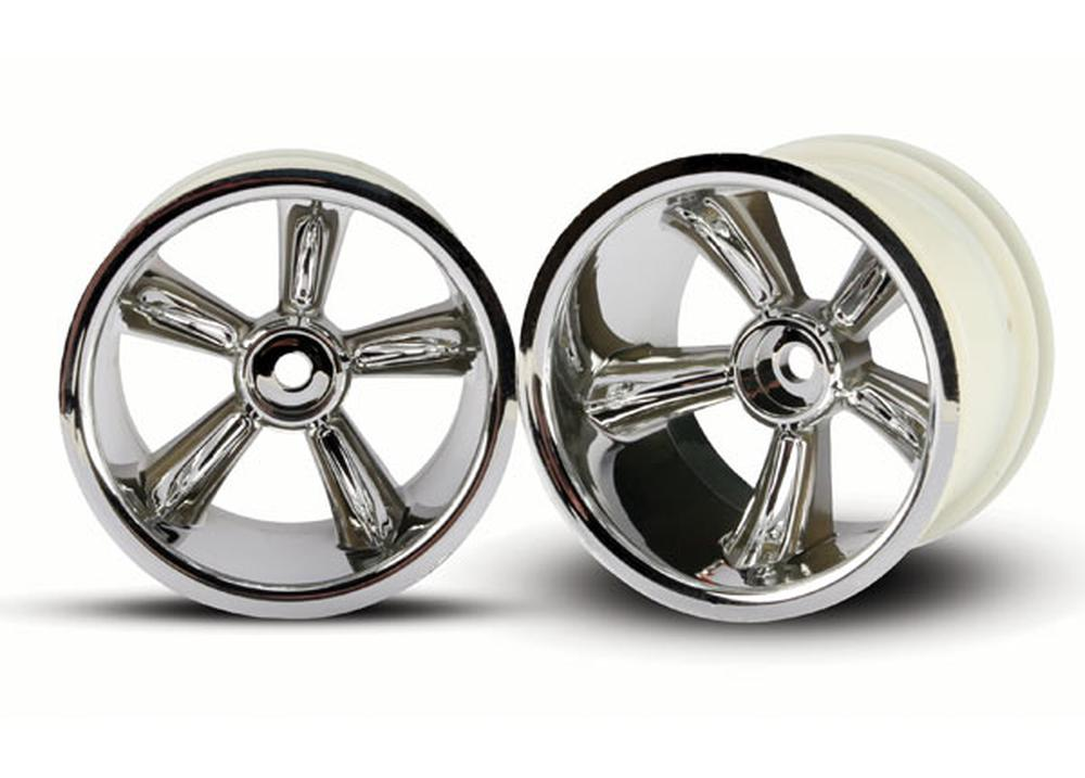 Hobby Rc Traxxas Tra4172 Chrome Rear Prostar Wheels Pr Tires, Wheels, Inserts by TRAXXAS