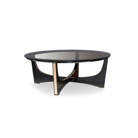 Modern Black Crocodile & Rosegold Coffee Table VIG A&X Talin